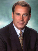 official photo of U.S. House Republican Leader John Boehner