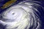 Image of hurricane approaching the Florida pennisula