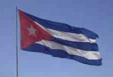 Image of flag of Cuba waving in the wind.