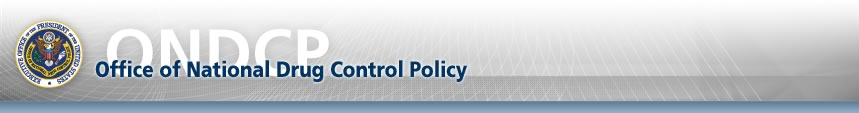 Office of National Drug Control Policy banner