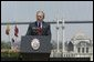 President George W. Bush delivers remarks at Galatasaray University, Tuesday, June 29, 2004.  White House photo by Eric Draper