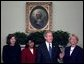 President George W. Bush introduces his judicial nominees Justice Priscilla Owen, left, Justice Janice Rogers Brown, center, and Judge Carolyn Kuhl in the Oval Office Thursday, Nov. 13, 2003.  White House photo by Eric Draper