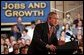President George W. Bush delivers remarks on the economy in Fridley, Minn., Thursday, June 19, 2003.  White House photo by Tina Hager