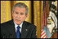 """President George W. Bush discusses Iraq with reporters during a press conference in the East Room Wednesday, Oct. 25, 2006. """"I will send more troops to Iraq if General Casey says, I need more troops in Iraq to achieve victory,"""" said President Bush in response to a reporter's question about the troops serving in Iraq. White House photo by Paul Morse"""