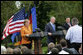 President George W. Bush, European Council President Angela Merkel of Germany and European Commission President Jose Manuel Barroso of Portugal listen to a question Monday, April 30, 2007, during a joint press conference in the Rose Garden.  White House photo by Eric Draper