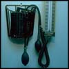 Photo of blood pressure equipment.