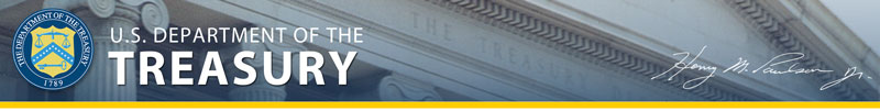 U.S. Department of Treasury Banner Image
