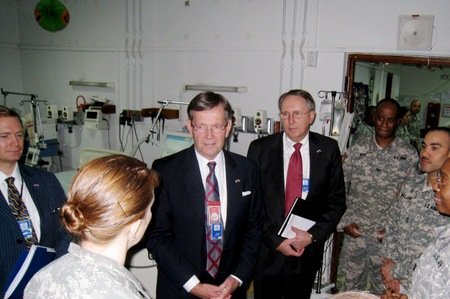 Secretary Leavitt and Chief of Staff, Rich McKeown on a tour of the CSH.
