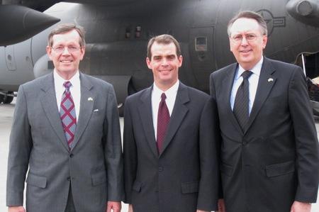 Secretary Michael Leavitt, Health Attaché Terry Cline, and Chief of Staff Rich McKeown