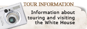 View information about touring and visiting the White House.
