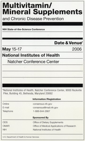 Multivitamin/Mineral Supplements Conference ad