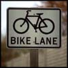 Photo of Bike Crossing Sign.