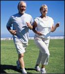 three people jogging
