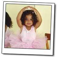 Girl in ballerina dress