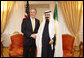 President George W. Bush meets with Saudi Arabia King Abdullah bin Abdul Aziz Al Saud, Thursday, Nov. 13, 2008, at the The New York Palace Hotel, following President Bush's address at the United Nations in New York. White House photo by Eric Draper
