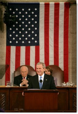 President George W. Bush delivers his State of the Union Address Monday, Jan. 28, 2008, at the U.S. Capitol. White House photo by David Bohrer