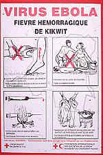 Ebola HF prevention poster, Kikwit, Zaire outbreak