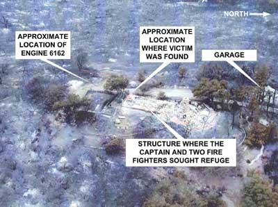 Photo 2. Aerial view of incident site