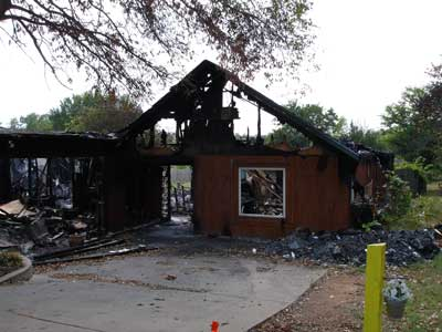 remains of structure after the fire