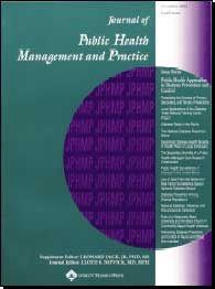 Cover of the Journal of Public Health Management and Practice.  November 2003. Supplement.