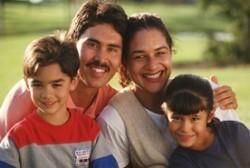 Foto de una familia hispana
