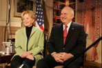 Vice President Dick Cheney and Lynne Cheney participate in an interview Feb. 22, 2005.