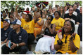 """The cheers are for the kids Sunday, June 26, 2005, as the Black Yankees of Newark, N.J., take on the Memphis Red Sox of Chicago at """"Tee Ball on the South Lawn."""""""