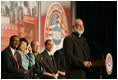 Father Gregory Boyle, founder of Homeboy Industries/Jobs for a Future, addresses the audience, Thursday, Oct. 27, 2005 at Howard University in Washington, at the White House Conference on Helping America's Youth.