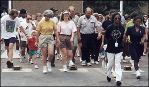 photo of people participating in a health walk