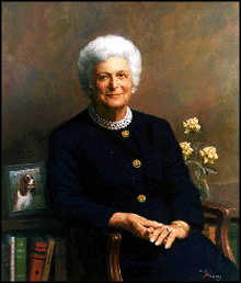 Portrait of Barbara Pierce Bush