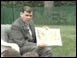 """Sec. Mel Martinez reads """"The Little Red Rabbit that Wanted Red Wings"""""""