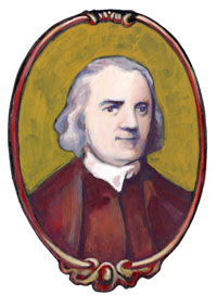 Drawing of Samuel Adams