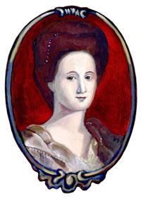 Drawing of Esther De Berdt Reed