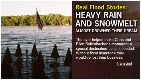 Real Flood Stories: Heavy rain and snowmelt almost drowned their dream. View Transcript