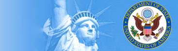 Statue of Liberty and U.S. Department of State Seal