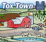 Tox Town portion of Farm scene - 150X136 pixels - 15 KB