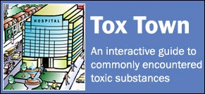 Tox Town hospital with logo - 291X134 pixels - 15 KB