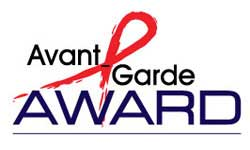 AIDS Ribbon on logo for Avante Garde award