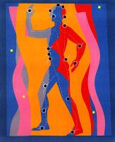 Conference artwork depicting a stylized human figure with dots on the body to signify acupuncture points.