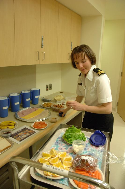 Setting up for Food Choices Part of Eating Behaviors Study