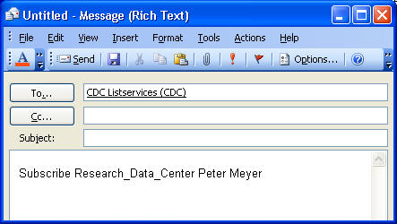 CDC Listserv graphic