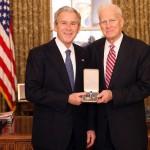 President Bush bestows the Presidential Citizens Medal to Librarian of Congress James H. Billington