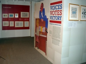 Image from Voices, Votes, Victory exhibit at the Library of Congress