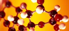 A model of a molecule made of gum drops.