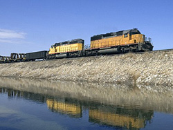 Photo of a freight train