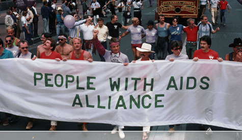 San Francisco activists marching to raise funds for AIDS treatment