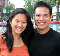 Picture of couple smiling