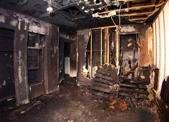 Photo 2. Burn room in the structure