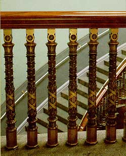 Photo showing bronze stair balusters for the State Department, South Wing. Walter Smalling, Jr.