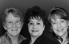 Carolyn Bur, Lucy Bradley-Springer, Linda Frank